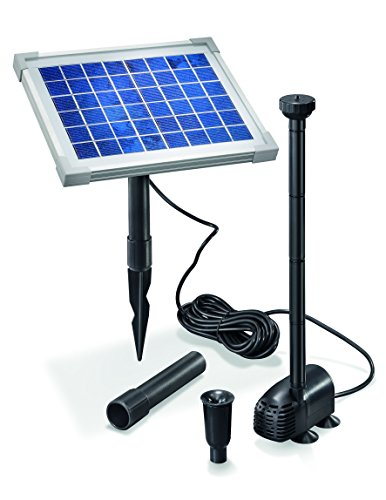 Solar Teichpumpe 5 Watt Solarmodul 470 l/h Förderleistung 0,9 m Förderhöhe Komplettset Gartenteich, 101012