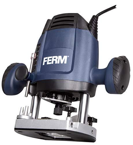 FERM Oberfräse 6,8 mm - 1200W - Variable Geschwindigkeit - 3m Kabel - Inkl. 3-teiliges Fräserset,...