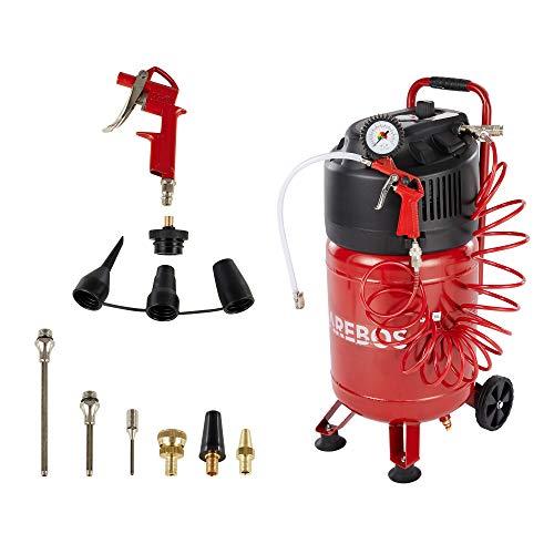 AREBOS Druckluftkompressor Luftkompressor | inkl. 13-tlg. Zubehör | Wartungsarm | Abschaltautomatik | Extra...