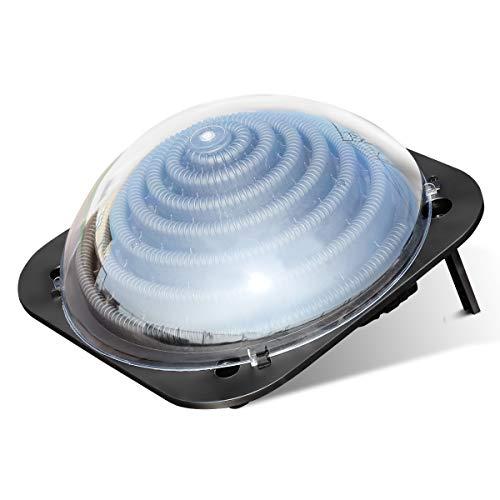 COSTWAY Poolheizung Solarheizung Wasserheizung Solarkollektor Schwimmbad 57x57x22cm