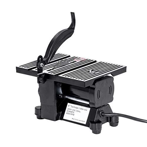 STAHLWERK Mini Tischsäge Kreissäge Modellbau Tischkreissäge mit 90 Watt und 4500 U/min Sägetiefe 1,4cm inkl. 3 x 100 mm Trennscheiben Holz Metall Feinsteinzeug - das STAHLWERK Original