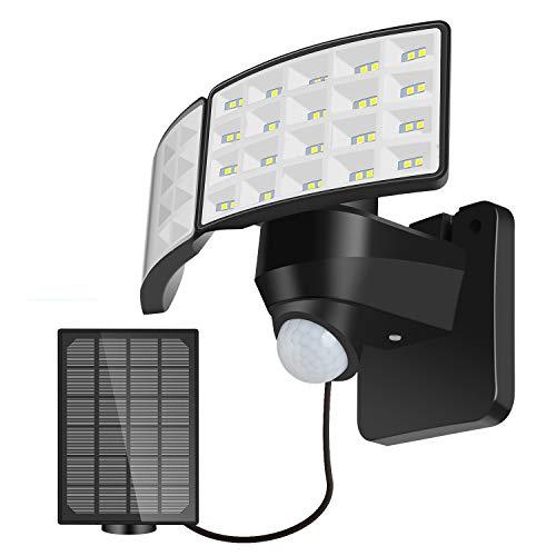 Lureshine Led Solarlampen für Außen Mit Bewegungsmelder 3 Arbeitsmodus Solar Laterne IP 65 Wasserdicht 270°Erfassungswinkel 1400LM Solarleuchten