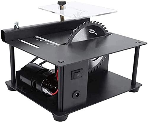 Tragbare Tischkreissäge , Tischsäge, 7-Pegel-Geschwindigkeit verstellbarer elektrischer Tischsäge, Mini-Desktop-Kreissäge, mit Winkelführung, Schnitttiefe von bis zu 35 mm für weiche Metalle und ander