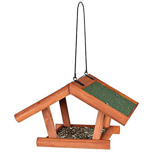 Trixie 5568 natura Futterhaus zum Hängen, 30 × 18 × 28 cm, braun