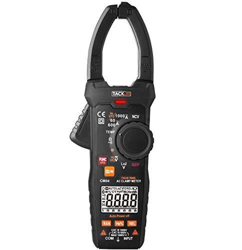 Stromzange, Tacklife CM04Multimeter Digital 6000Punkte, automatische Serie; mit der der umfassendsten Funktion zur Messung von Temperatur und aktueller Spannung