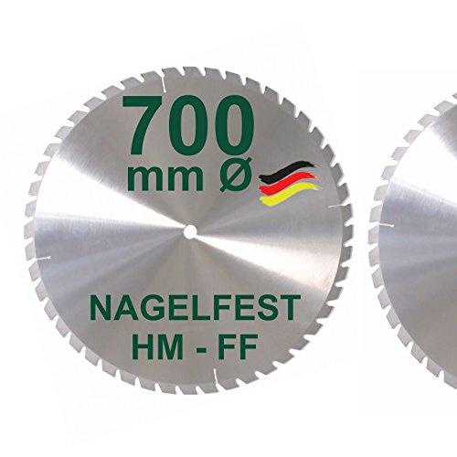 HM Sägeblatt 700 x 30 mm NAGELFEST FF Hartmetall FSP Kreissägeblatt 700mm für Bauholz Brennholz Schalholz...