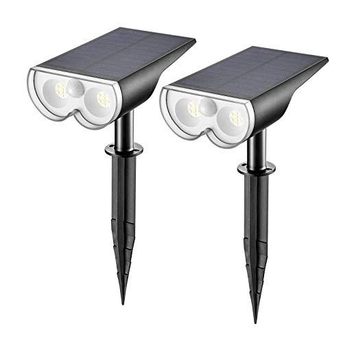 Linkind Solar gartenleuchte mit Bewegungsmelder, Solarlampen für außen, IP67 Wasserdicht Außen-...