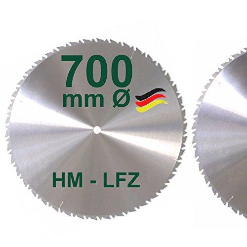 HM Sägeblatt 700 mm LFZ Flach-Zahn Hartmetall Widea für Brennholz Hartholz Kreissägeblatt für Wippsäge...