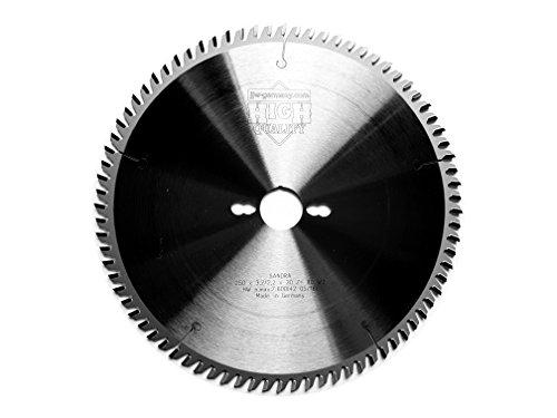 jjw-germany HM - Kreissägeblatt Sandra 250 x 30 Z= 80 WZ für Tisch oder Formatkreissäge, 1 Stück,...
