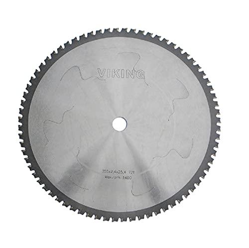 VIKING 355 x 25,4 Z 72 Zähne Dry Cut Kreissägeblatt mit Hartmetall-Zähne zum Metallschneiden