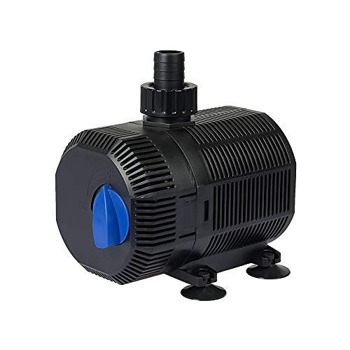 Yorbay CQB-2000 Teichpumpe Super ECO 35W 2300l/h mit 10m Stromkabel Bachlaufpumpe für Garten, Teiche, Süß- und Meerwasser (Mehrweg)