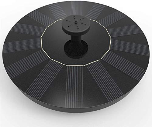Nurkoo Solar Springbrunnen, IPX8 Solar Teichpumpe mit Solar Panel Baumwolle Filtern Eingebaute Wasserpumpe Schwimmender Fontäne Pumpe mit 4 Fontänenstile für Garten, Vogel-Bad,Teich,Fisch-Behälter