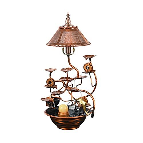 YI0877CHANG Zimmerbrunnen Blumen Tischplatte Wasserbrunnen - Indoor Desktop Dekoration Wasserfall-Brunnen - kreative Hausmöbel für Wohnzimmerbüro Brunnen