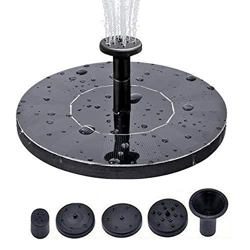 Lvhan Solar Springbrunnen - 5.3' Solar Teichpumpe mit 4 Effekte,Solarpumpen Schwimmender Brunnen für Garten, Kleiner teich, Vogelbad, Fisch-Behälter, Pool