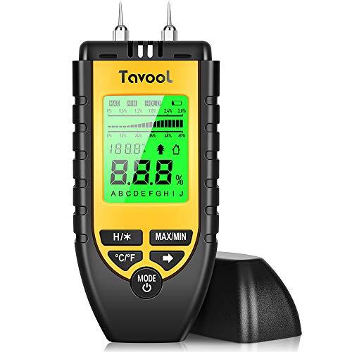 Feuchtigkeitsmessgerät Feuchtigkeitsmesser - Tavool Feuchtigkeits-Detector Feuchtigkeitsdetektor mit Batterie...