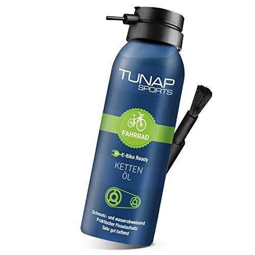 TUNAP SPORTS Kettenöl Spray und Dosier-Pinsel, 125 ml   Fahrrad Langzeit-Schmierung für Ritzel, Schaltwerk...