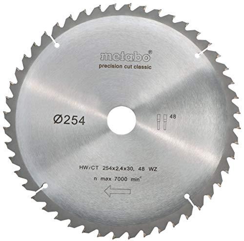 Metabo 628061000 Kreissägeblatt HW/CT 254x30, 48 WZ 5°neg