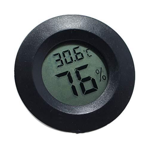 Mini Praktische Digitale Indoor Mini-Digital-Innen-Rund Thermometer, Runde Thermometer Hygrometer Temperatur-Und Feuchtigkeitsmessgerät LCD-Display