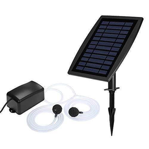 Galapara Solar Teichbelüfter Solar Aquarium Sauerstoffpumpe, Aquarium Teichbelüfter Luftpumpe Mit 2 weichen...