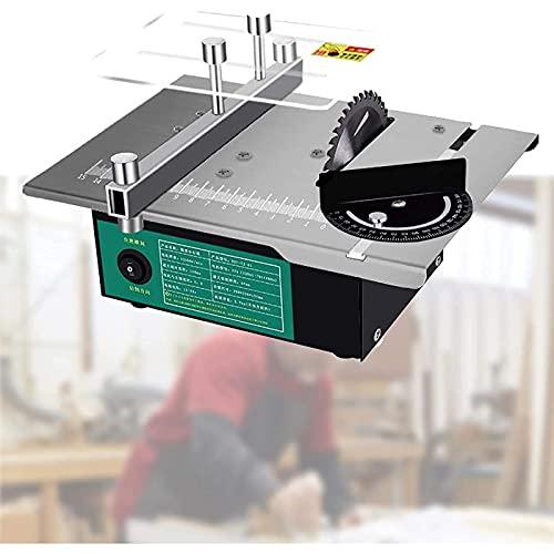 Tragbare Tischkreissäge , Kleiner Haushaltstisch sah, mini elektrische Kreissäge, leistungsstarker Motor, 7 Geschwindigkeiten, ersetzen Sie das Sägeblatt in einem Schritt, mehrgrößen Anpassung für DIY