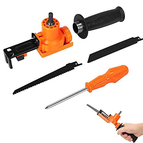 Akku-Säbelsägen-Adapter mit,mit rutschfestem Griff,Handheld-Zubehör für die Holzbearbeitung,für Holz,Metallrohre,PVC,Stahlschneiden