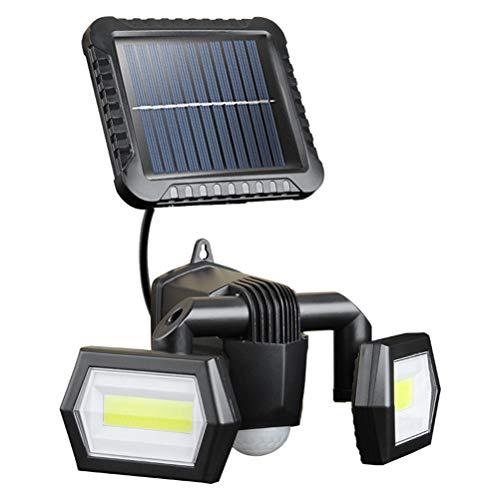 Solarleuchten für den Außenbereich, IP65, wasserdicht, Flutlicht, Solarstrahler, PIR-Bewegungsmelder, Licht mit 3 Leuchtmodi, Solar-Wandleuchten für Terrasse, Hof, Garten, Garage, kaltweiß