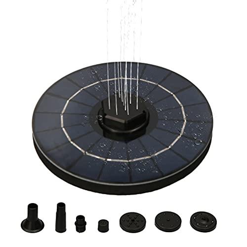 Nesface Schwimmende 3,5-W-Solarbrunnenpumpe mit 1200-mAh-Batterie-Backup DIY-Birdbath-Springbrunnenpumpe mit Saugnapffilter für Wassertank-Wassermangelschutz in kleinen Teichen