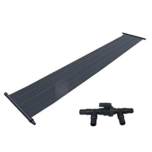 well2wellness® Pool Solarheizung Solarmatte mit 0,6 x 3 m (= 1,8 m²) für Pools bis 15m³ Plus 3- Wege Solarweiche