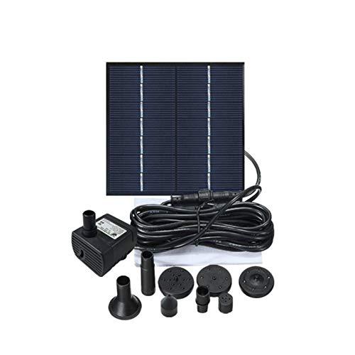 A/A Solar Springbrunnen Für Außen, Solar Teichpumpe Mit 1.4W Solar Panel, Solarbrunnen Mit 8 DüSe, Solar Wasserpumpe Für Teich, Garten