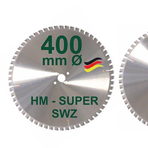 HM Kreissägeblatt 400 x 30 Z= 60 SWZ SUPER nagelfest Sägeblatt 400mm für Bauholz Naturholz Brennholz...