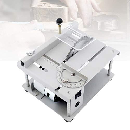 ZPCSAWA Mini Multifunktionale Tischkreissäge, Kleine Haushalts Schneidwerkzeug, Schnitthöhe 35mm, 3000r/ min Leerlaufdrehzahl, für die DIY-Holzbearbeitung Modellhandwerk