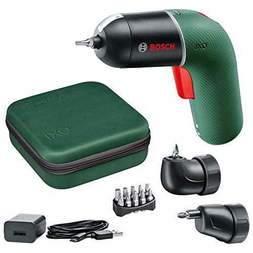 Bosch Akkuschrauber IXO Set (6. Generation, grün, mit IXO-Winkel- und IXO-Exzenteraufsätzen, variable...