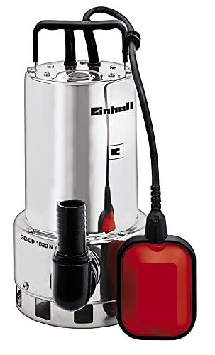 Einhell Schmutzwasserpumpe GC-DP 1020 N (1000W, Ø20mm Fremdkörper, 18.000L/h Förderleistung, Schwimmerschalter, Tragegriff, inkl. Universalanschlüsse)