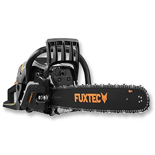 FUXTEC Benzin Kettensäge FX-KS262 – Motorsäge 2,85kw 61,5ccm Hubraum & EASY-Start – Schwertlänge 20 Zoll inkl. Schwertschutz & Tragetasche