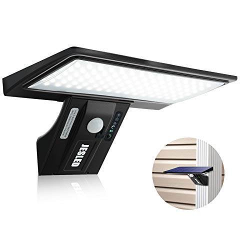 JESLED Solarleuchte für Außen, 90 LED Solarlampe Außen Superhelle Solarleuchte mit Bewegungsmelder...