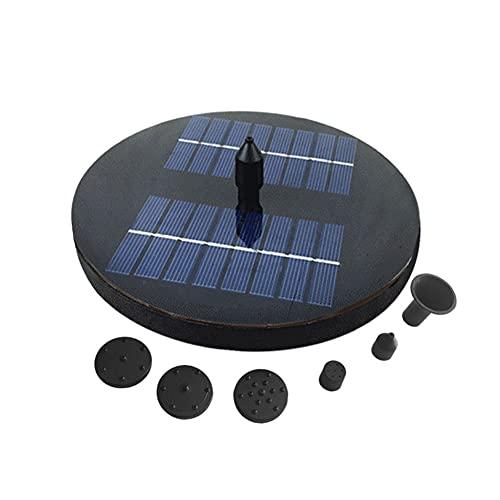 Solar Springbrunnen Mit 1.6W Solar Panel, Solar Teichpumpe Mit 6 Fontänenstile, Outdoor Wasserpumpe Solarpumpe Für Garten, Gartenteiche, Vogel Bad, Teich(Ohne Batterie)