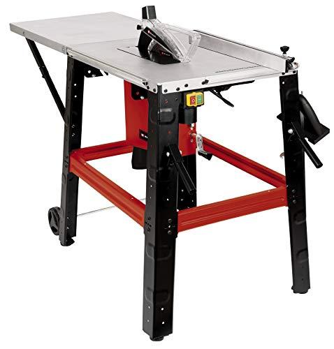 Einhell Tischkreissäge TE-TS 315 U (2200 W, Ø315 x ø30 mm Sägeblatt, abklappbare Tischverlängerung, Induktionsmotor, Sägeblatt 45° neigbar, inkl. Schiebestock, Schiebeblock und Werkzeug)