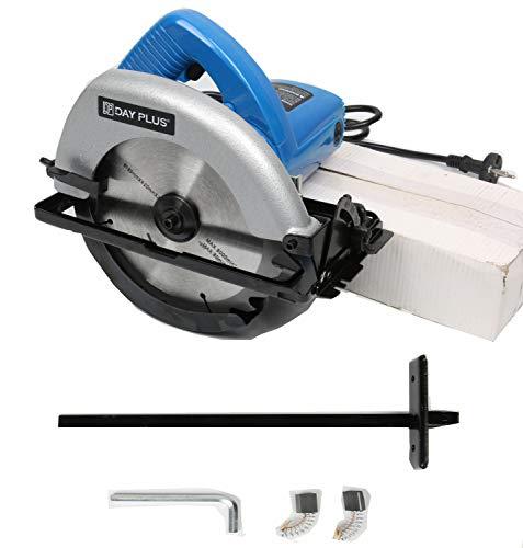 Kreissäge, PowerTools Handkreissäge 900W 4700RPM, Tauchkreissäge mit FührungsschieneSchnitttiefe: 90°: 55mm/45°: 38mm, Kupfermotor, Sicherheitsschalter für Holz DIY