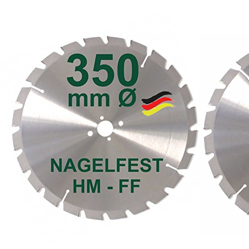 HM Sägeblatt 350 x 30 mm NAGELFEST FF Hartmetall FSP Kreissägeblatt 350mm für Bauholz Brennholz Schalholz...