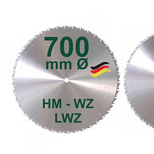 HM Sägeblatt 700 x 30 mm LWZ Hartmetall Präzision Kreissägeblatt 700mm Wechselzahn mit Spanabweiser für...