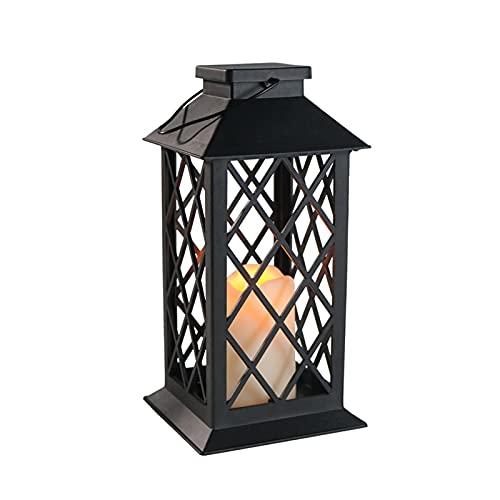 FHYTGBS Solar-Laterne, Outdoor, Garten, Hängelaternen, solarbetrieben, Retro-Laterne, Kerzenlicht, wasserdicht, Outdoor-Gartendekoration, Laterne, leuchtende Farbe (A).