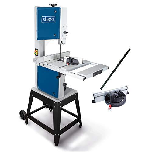 Scheppach HBS400 Bandsäge 315 mm mit Ersatzsägeband und Querschneidlehre, 230 Volt, Motorleistung 750 Watt,...