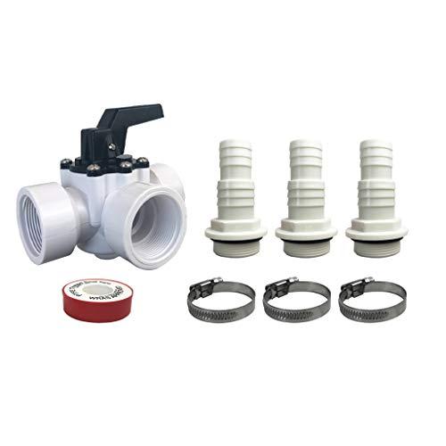well2wellness® Hochwertiges PVC Bypass Set 8-teilig für Pool Solarheizung, Poolheizung und Wärmepumpe