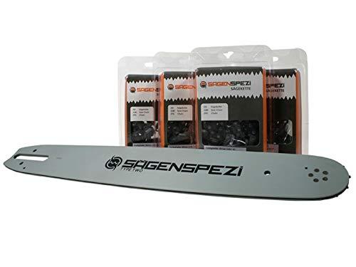 40cm Sägenspezi Schwert-Set Drive mit 4 Vollmeißelketten .325' 67TG 1,6mm passend für Stihl MS261 MS 261