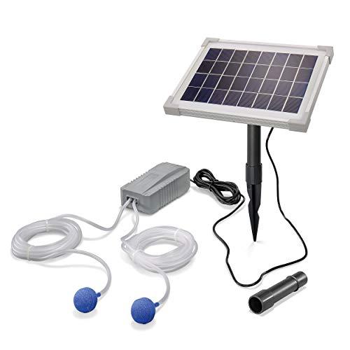 Solar Teichbelüfter Professional - 5W Solarmodul 200 l/h Luft - extragroßes Solarmodul für beste Funktion -...