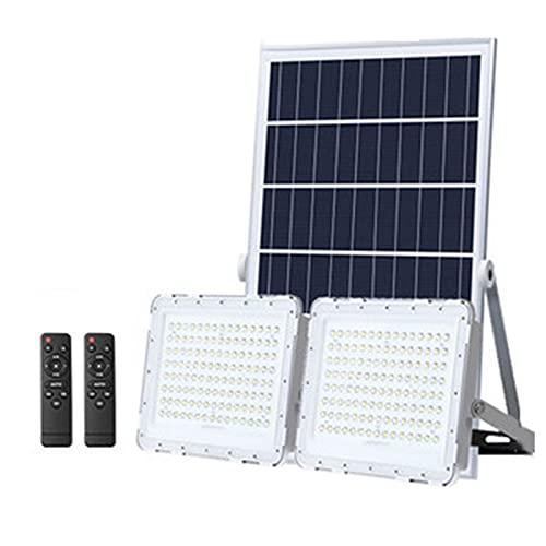 100w/200w/300w Solar Led Flutlicht, 6000k Solarleuchten Für Außen Dual Head, IP67 wasserdichte Solar Strahler Solarlampe Mit 16,4 Fuß Kabel Für Garten, Garage, Pool(Size:200w)