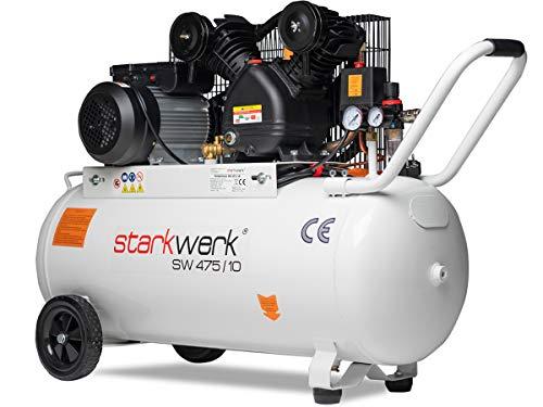2200 Watt 230 V 10 Bar 100 l Kessel Keilriemenantrieb Druckluftkompressor Luftkompressor Kompressor Compressor Starkwerk SW 475/10