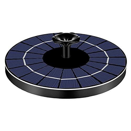 tulipde Solar Springbrunnen 2021 Upgrade 9V / 3.5W Solarbrunnen Mit LED Licht Eingebaute Batterie 1500mAh Akku Mit 6 Fontänenstile Solar Teichpumpe Für Garten, Vogel-Bad, Fisch-Behälter robust