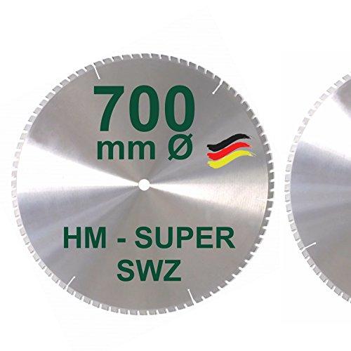 HM Kreissägeblatt 700 x 30 Z= 84 SWZ SUPER nagelfest Sägeblatt 700mm für Bauholz Naturholz Brennholz...