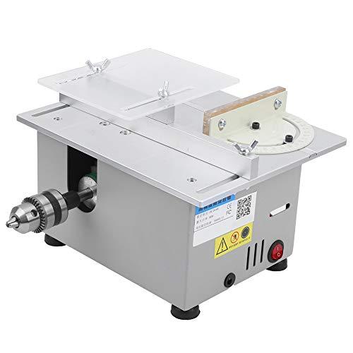 AC110V - 240V 96W Tischkreissägen, Mini Tischkreissäge Dicke 29 mm, Multifunktions-Holzbearbeitung DIY Modell Schneidwerkzeug, Silber(US)